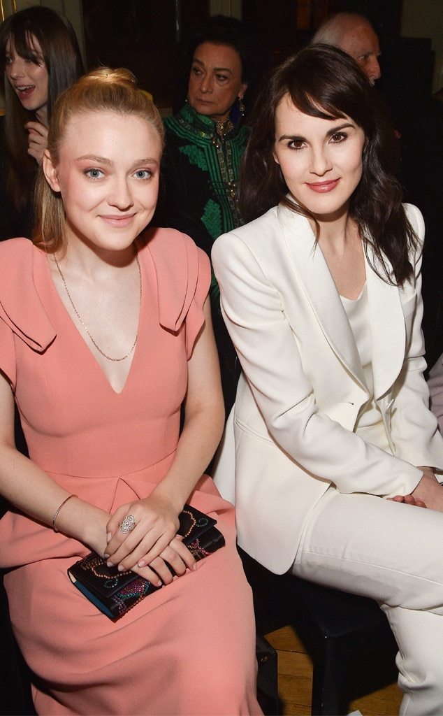 Dakota Fanning & Michelle Dockery -  Attended the Giorgio Armani Prive show on Jan. 22, 2019.