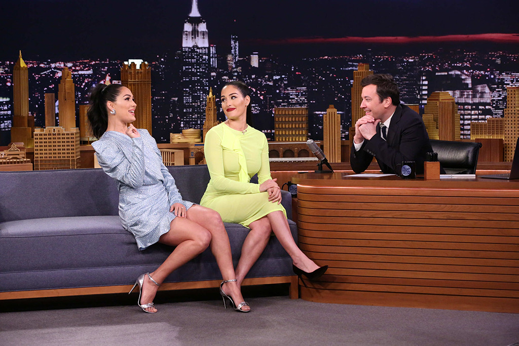Brie Bella, Nikki Bella, Tonight Show, Jimmy Fallon