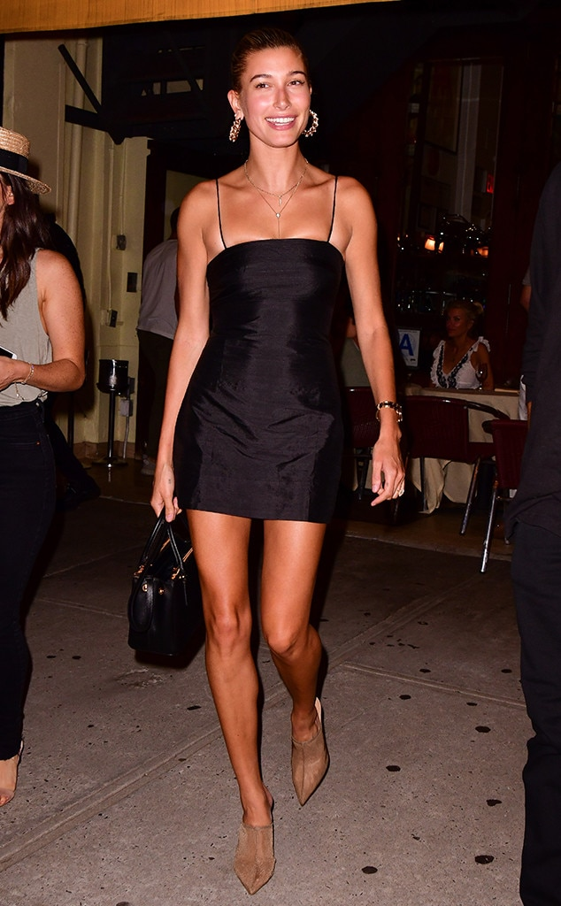 LBD -  The Drop the Mic  hostshowed off her stunning legs in this LBD, while leaving a restaurant in New York City.