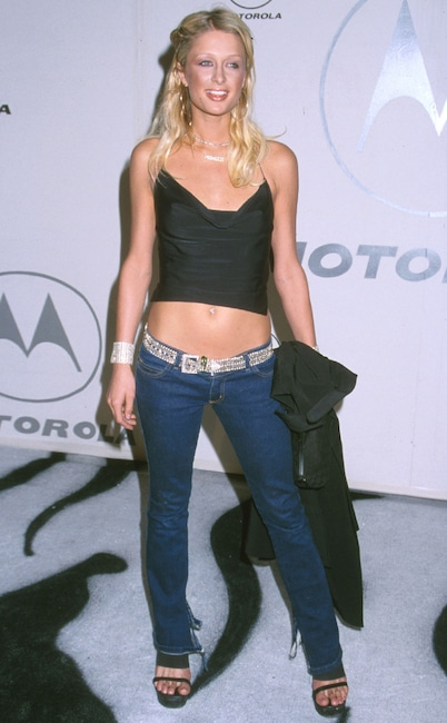 Paris Hilton, Embarrassing fashion trends, Low-rise jeans