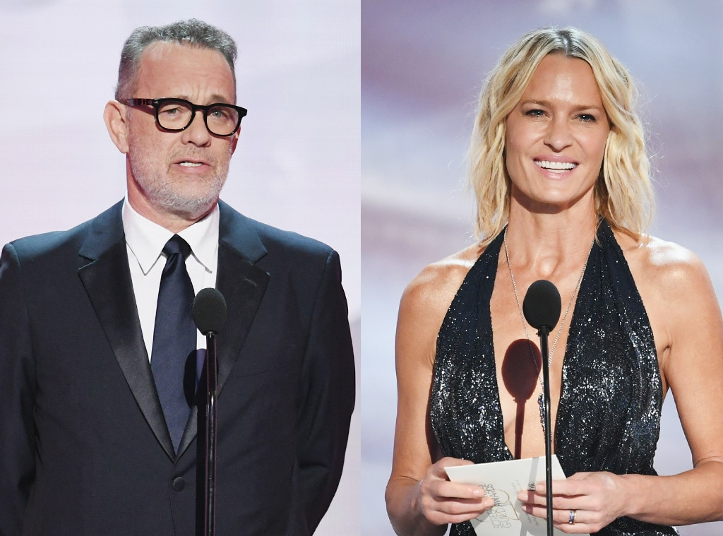 Tom Hanks & Robin Wright -  These  Forrest Gump  costars were both at the SAG Awards and here is hoping for a pic together!