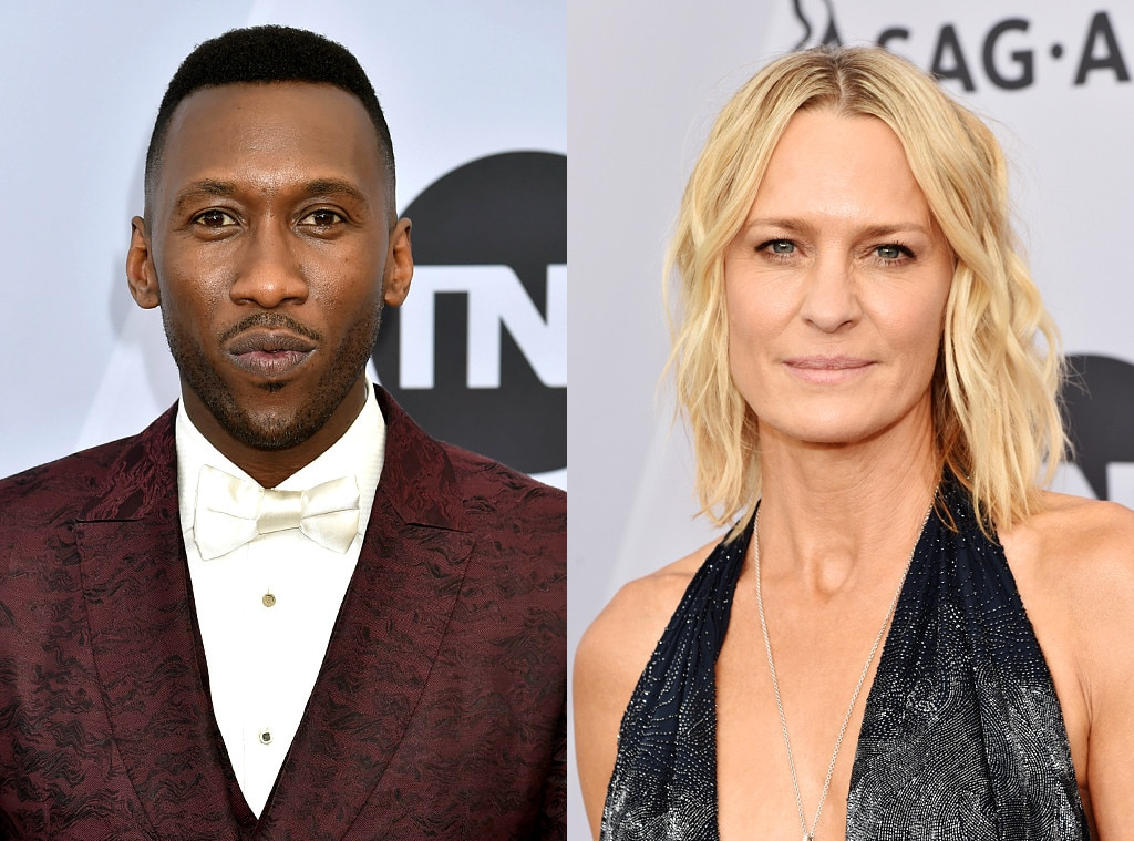 Mahershala Ali & Robin Wright -  The actress presented her former House of Cards  costarwith his award for Outstanding Performance by a Male Actor in a Supporting Role in a Motion Picture during the ceremony.