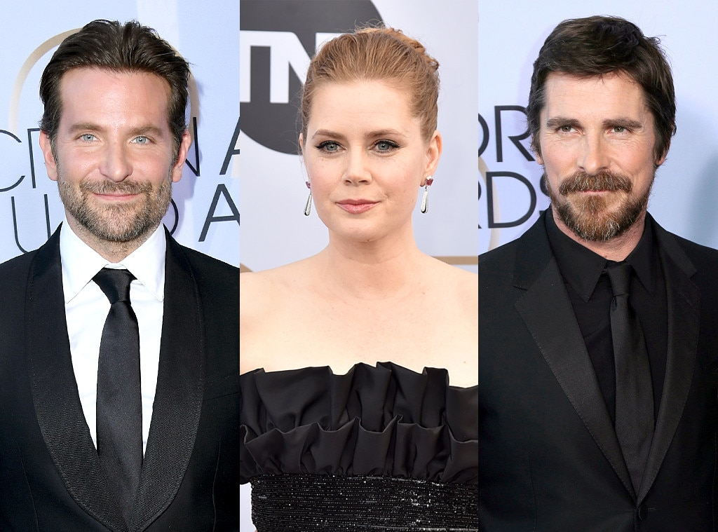 Bradley Cooper, Amy Adams & Christian Bale -  We hope it was an  American Hustle  reunion for these costars at the SAG Awards who all made to this year's ceremony.