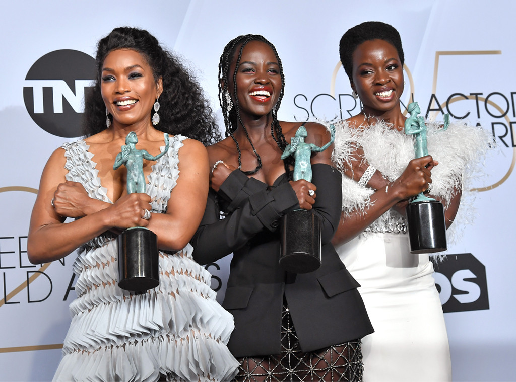 Angela Bassett, Lupita Nyong'o, Danai Gurira, 2019 SAG Awards, Candids