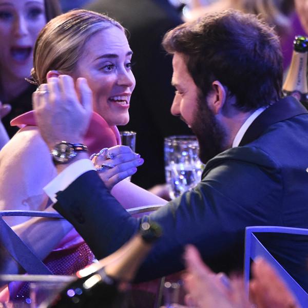 John Krasinski Cries Tears of Joy During Emily Blunt's Acceptance Speech at the 2019 SAG Awards