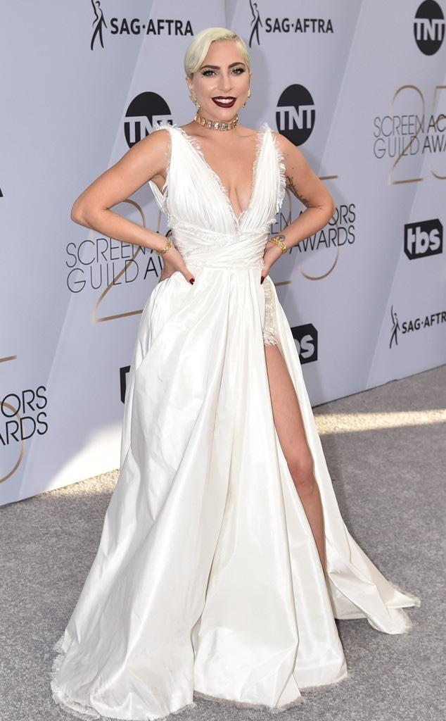 Lady Gaga, 2019 SAG Awards, Screen Actors Guild, Red Carpet Fashions