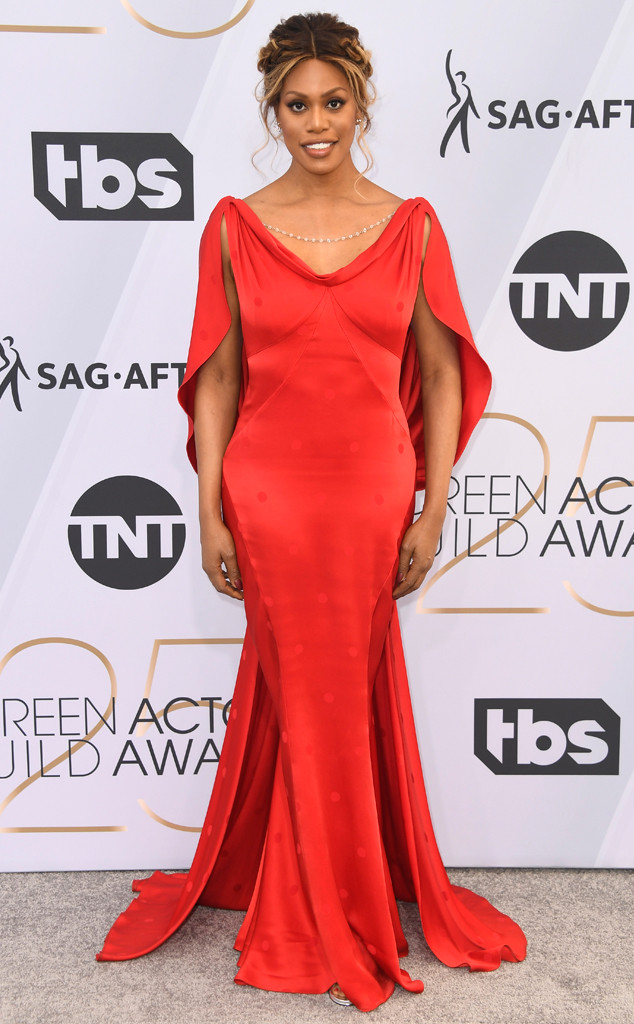 Laverne Cox, 2019 SAG Awards, Screen Actors Guild, Red Carpet Fashions