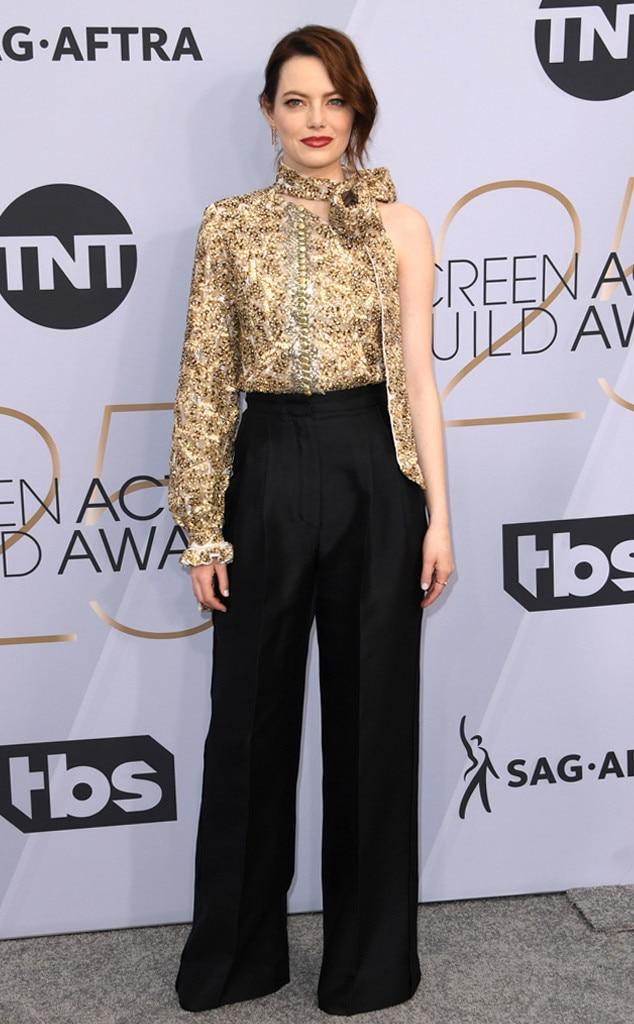 Emma Stone, 2019 SAG Awards, Red Carpet Fashions