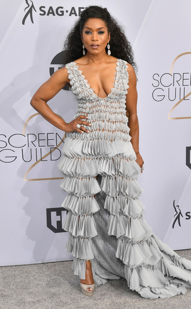 Angela Bassett, 2019 SAG Awards, Screen Actors Guild, Red Carpet Fashions