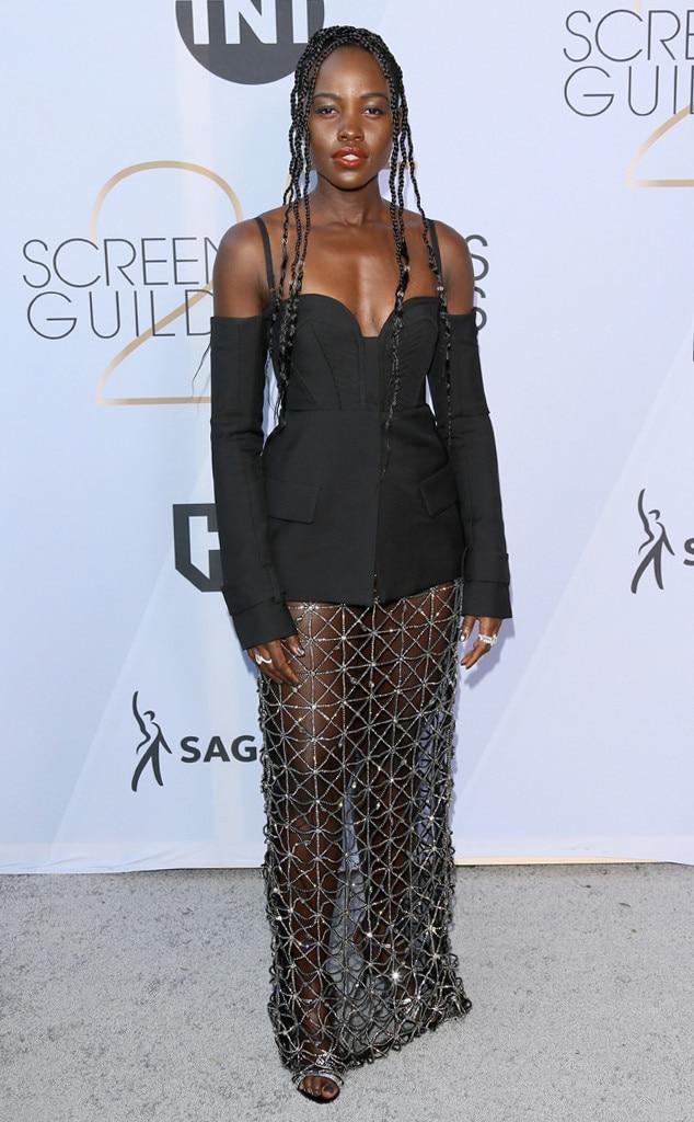 Lupita Nyong'o, 2019 SAG Awards, Red Carpet Fashions