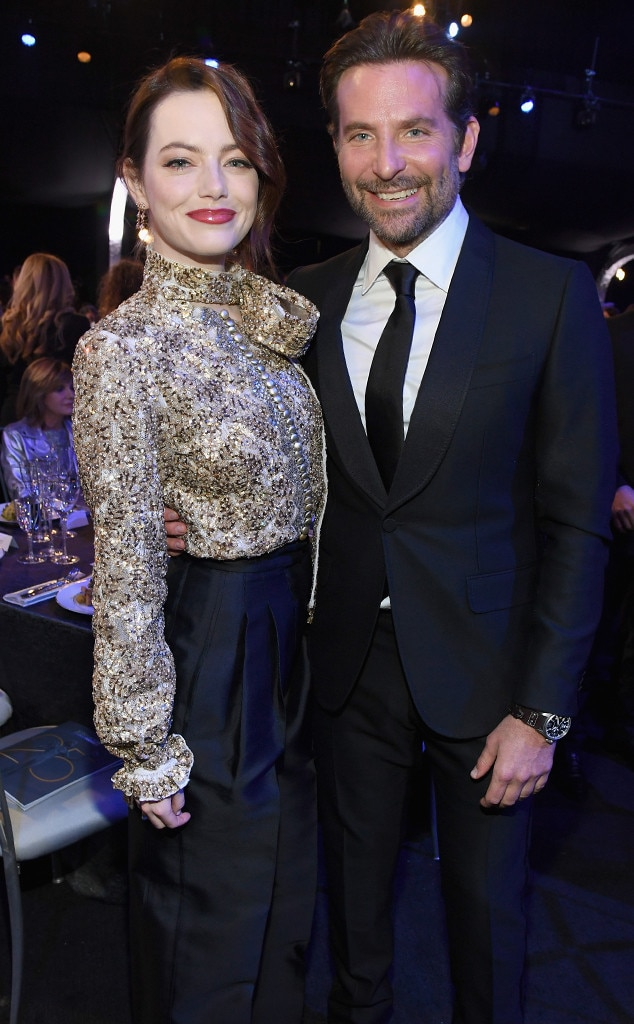 Bradley Cooper & Emma Stone -  These Aloha castmates were all smiles as they posed together at the big show.