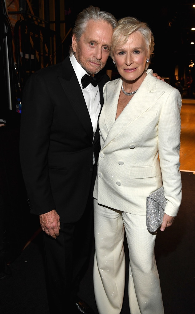 Glenn Close & Michael Douglas -  The  Fatal Attraction  costars reunited topresent Patricia Arquette with her award for Outstanding Performance by a Female Actor in a Television Movie or Miniseries.