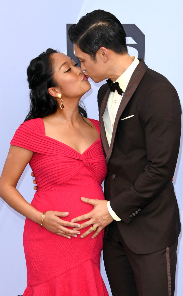 Harry Shum Jr, Shelby Rabara, 2019 SAG Awards, Candids