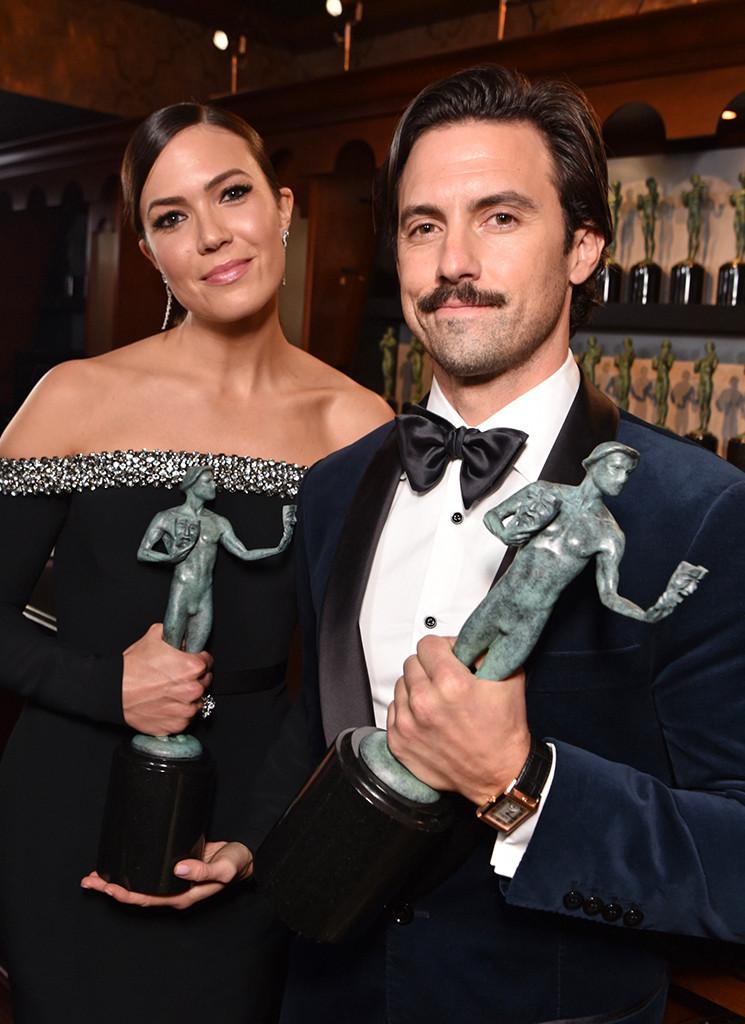 Mandy Moore, Milo Ventimiglia, 2019 SAG Awards, Candids