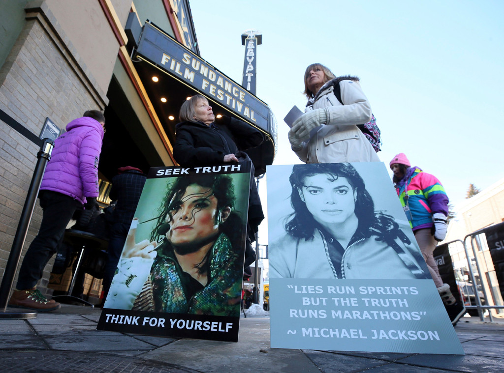 Leaving Neverland, Sundance, Protests