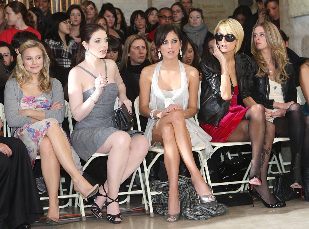 Kristen Bell, Michelle Trachtenberg, Jessica Struop, Paris Hilton, Nicky Hilton, 2009 New York Fashion Week
