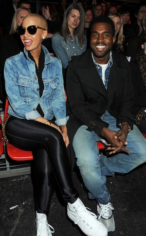 Amber Rose, Kanye West, 2009 London Fashion Week
