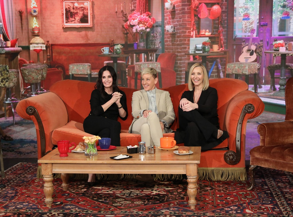 Ellen DeGeneres Just Facilitated a Surprise Mini-Friends Reunion *in* Central Perk