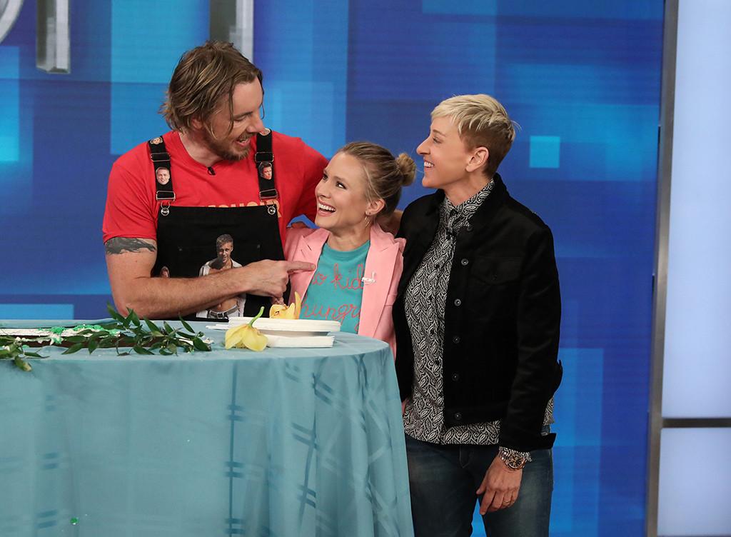 Dax Shepard, Kristen Bell, The Ellen DeGeneres Show