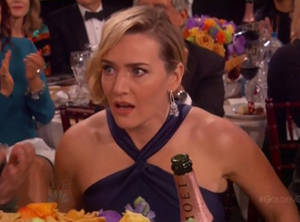 Kate Winslet, 2016 Golden Globes, Shocked