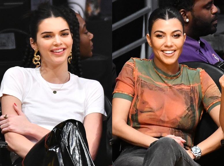 Kendall Jenner, Kourtney Kardashian, Laker Game