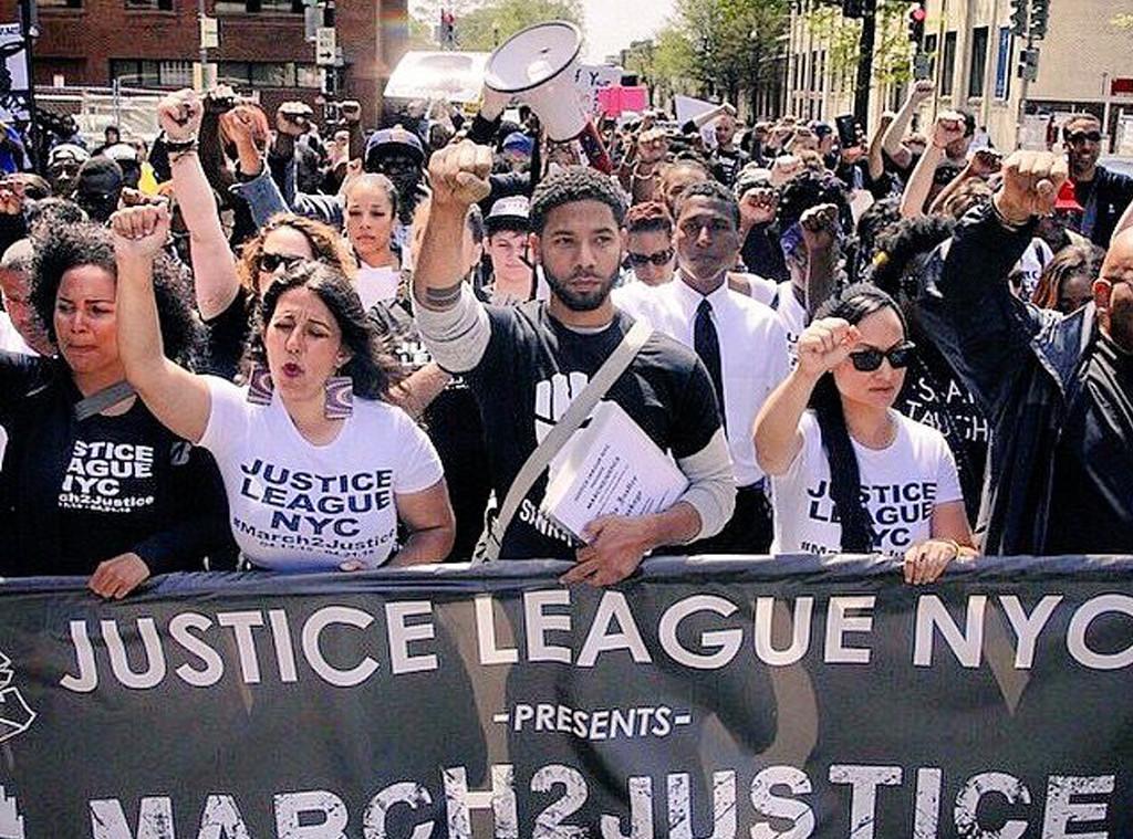 Jussie Smollett, March 2 Justice 2015