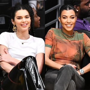 Kendall Jenner, Kourtney Kardashian, Laker Game