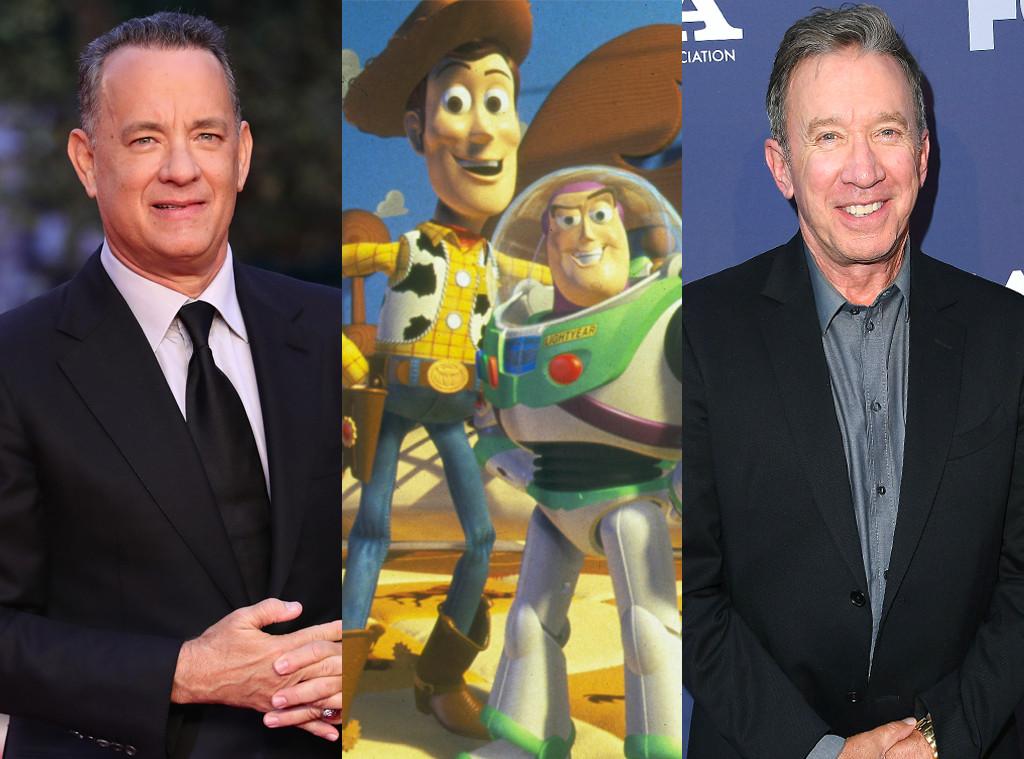 Tom Hanks, Woody, Buzz Lightyear