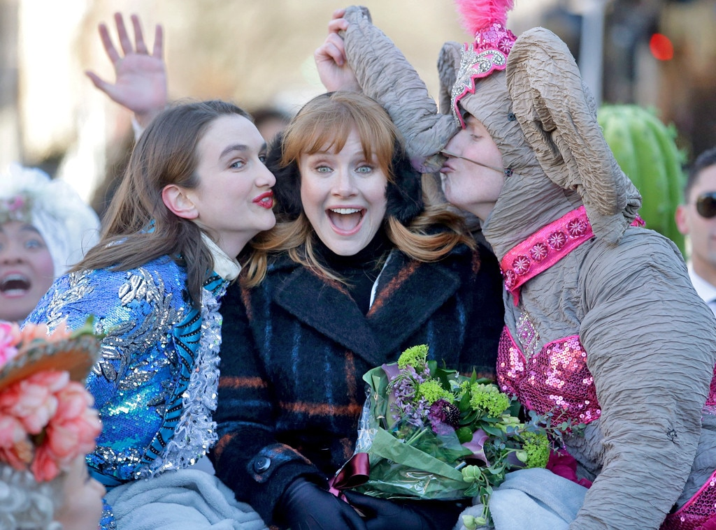 Bryce Dallas Howard -  Three cheers! The  Jurassic World  actresscelebrates at a parade in her honor after being named Harvard University's Hasty Pudding Theatricals Woman of the Year.