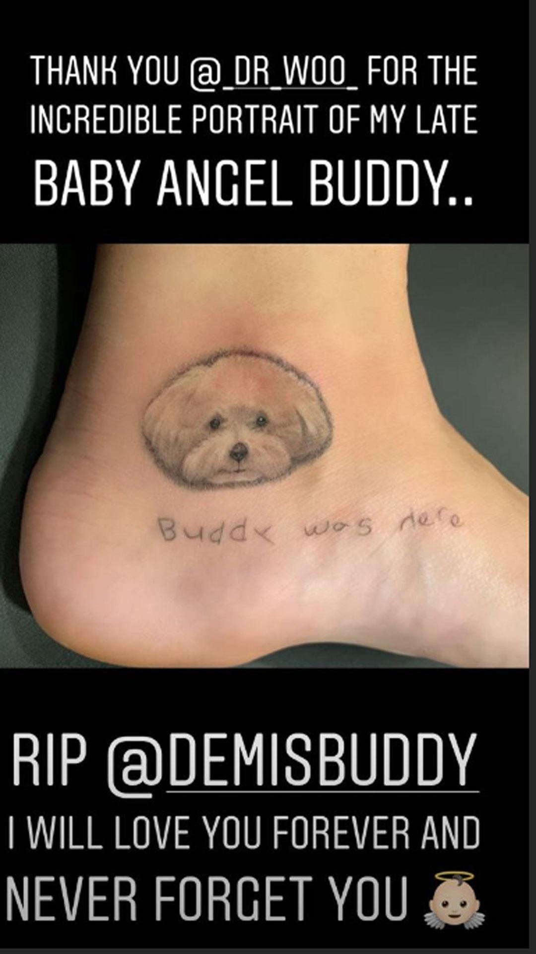 Demi Lovato, Dog, Tattoo