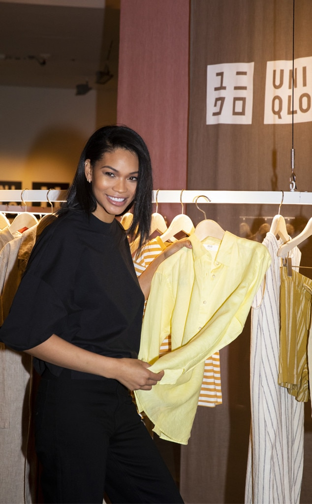 Chanel Iman -  The supermodel celebrates UNIQLO's Spring/Summer 2019 Collection with a private cocktail party in New York City.