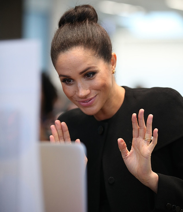 Meghan Markle, Association of Commonwealth Universities Visit, Pregnant