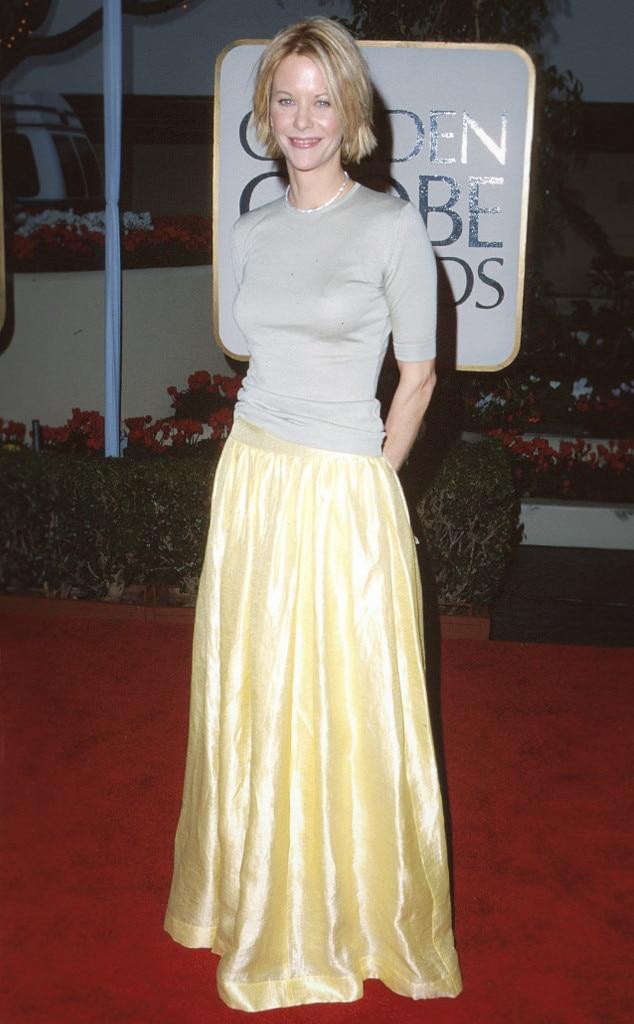 ESC: Fashion Flashback 1999 Golden Globes, Meg Ryan