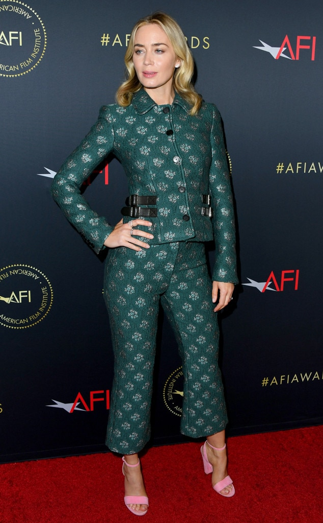 Emily Blunt from AFI Awards 2019: Red Carpet Fashion   E! News