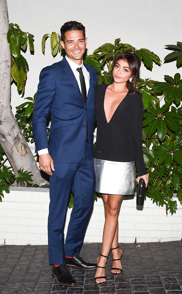 Sarah Hyland, Wells Adams, Pre-2019 Golden Globes Party, W Magazine