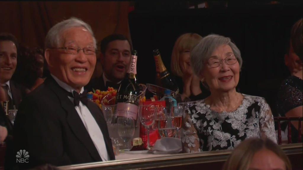 Golden Globes, Sandra Oh, Andy Samberg