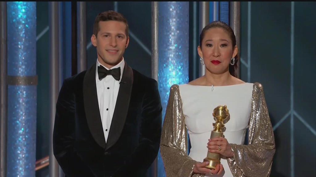 Golden Globes, Andy Samberg, Sandra Oh