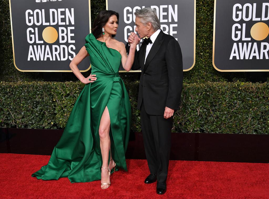 Catherine Zeta-Jones, Michael Douglas, 2019 Golden Globe Awards, Golden Globes, Candids
