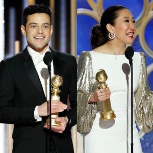 Rami Malek, Sandra Oh, Christian Bale, 2019 Golden Globes, Golden Globe Awards, Winners