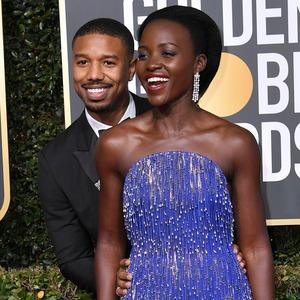 Michael B. Jordan, Lupita Nyong'o, 2019 Golden Globe Awards, Golden Globes, Candids