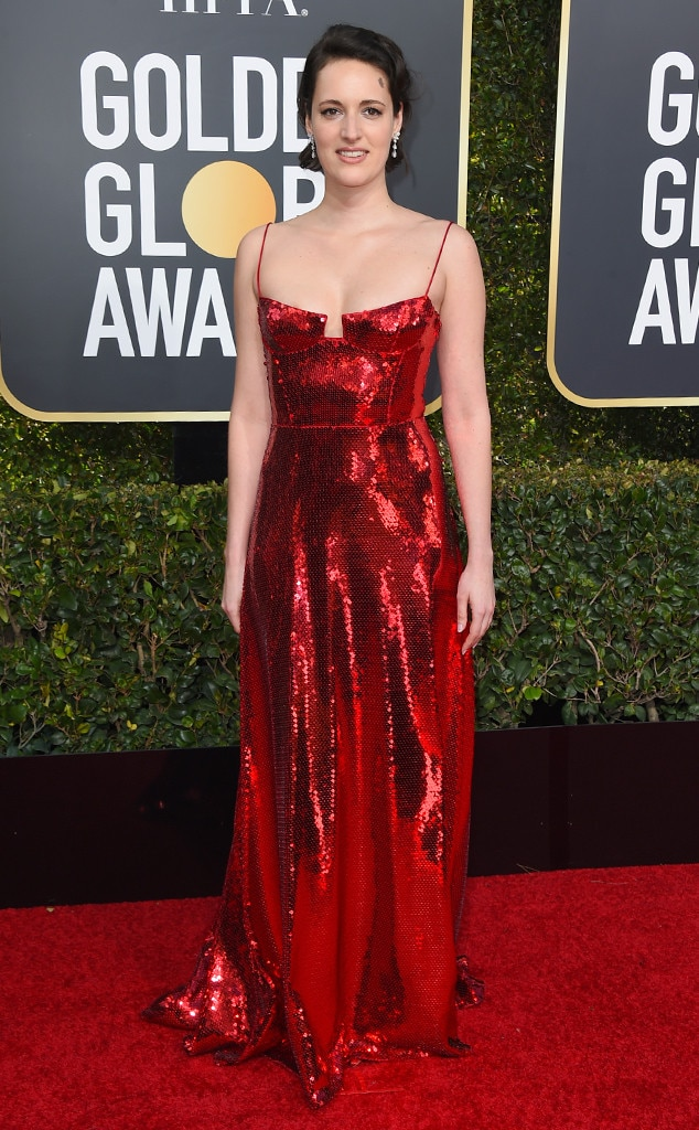 Phoebe waller bridge from 2019 golden globes red carpet fashion e news - Golden globes red carpet ...