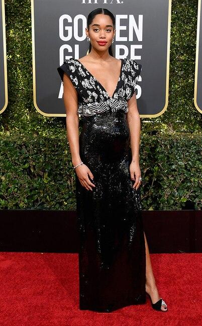 Laura Harrier, 2019 Golden Globes, Golden Globe Awards, Red Carpet Fashions