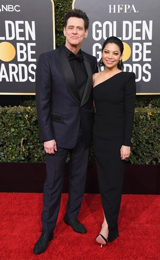 Jim Carrey, Ginger Gonzaga, 2019 Golden Globes, Couples