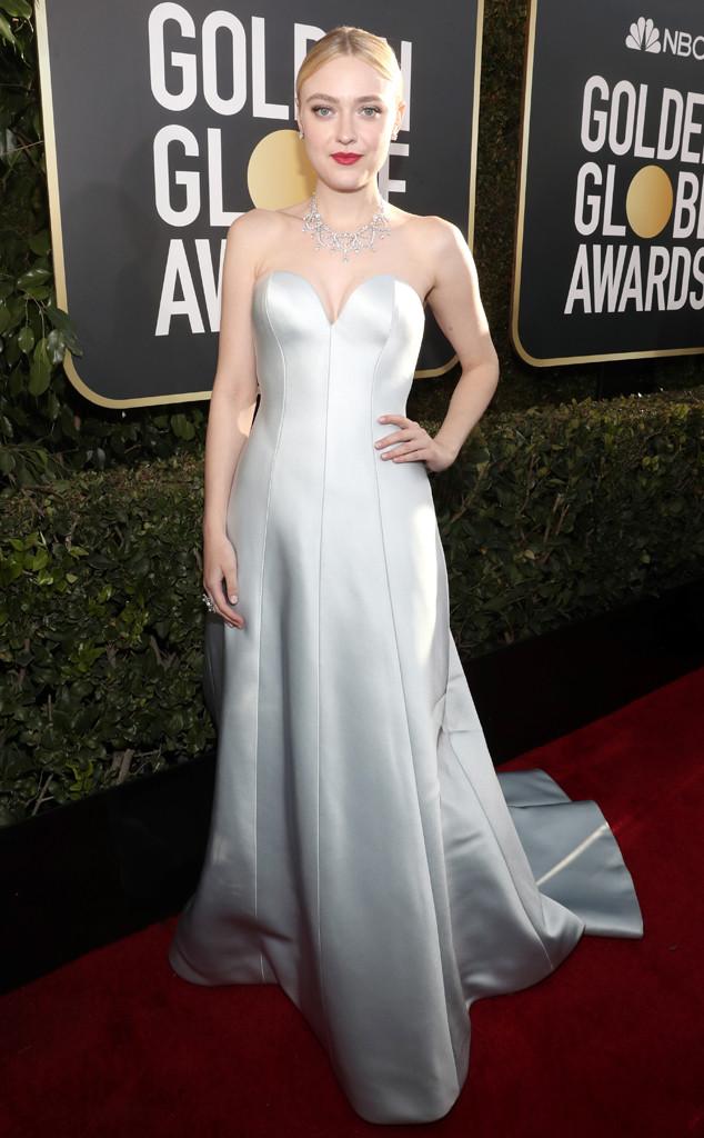 Dakota Fanning, 2019 Golden Globes, Golden Globe Awards, Red Carpet Fashions