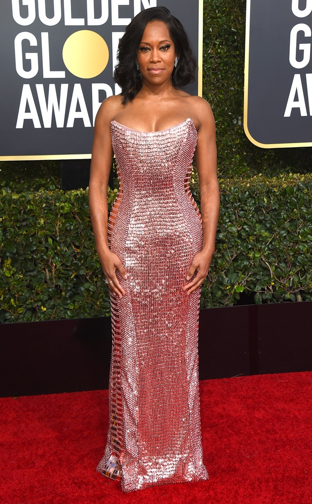 Regina King, 2019 Golden Globes, Golden Globe Awards, Red Carpet Fashions