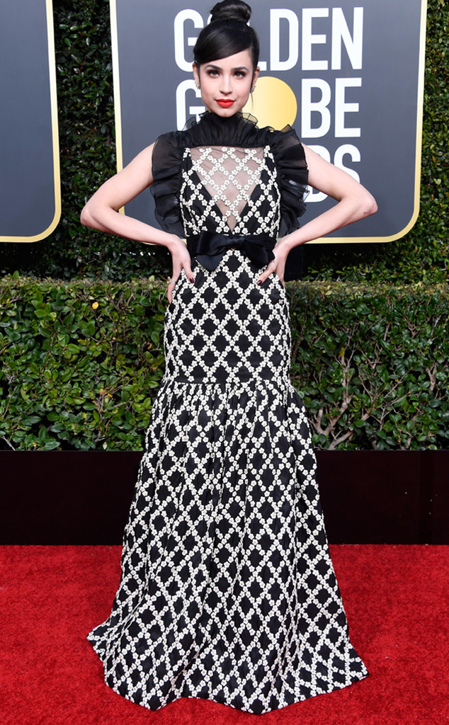 Sofia Carson, 2019 Golden Globes, Golden Globe Awards, Red Carpet Fashions