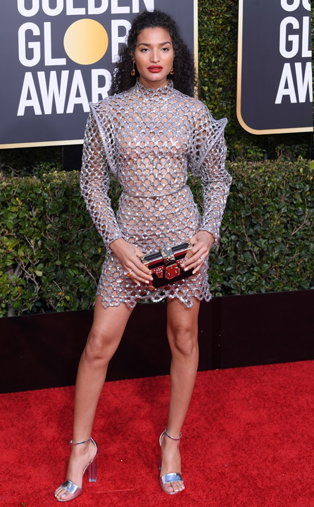Indya Moore, 2019 Golden Globes, Golden Globe Awards, Red Carpet Fashions