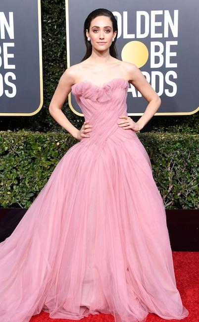 Emmy Rossum, 2019 Golden Globes, Golden Globe Awards, Red Carpet Fashions