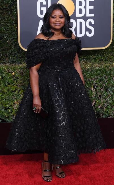 Octavia Spencer, 2019 Golden Globes, Golden Globe Awards, Red Carpet Fashions