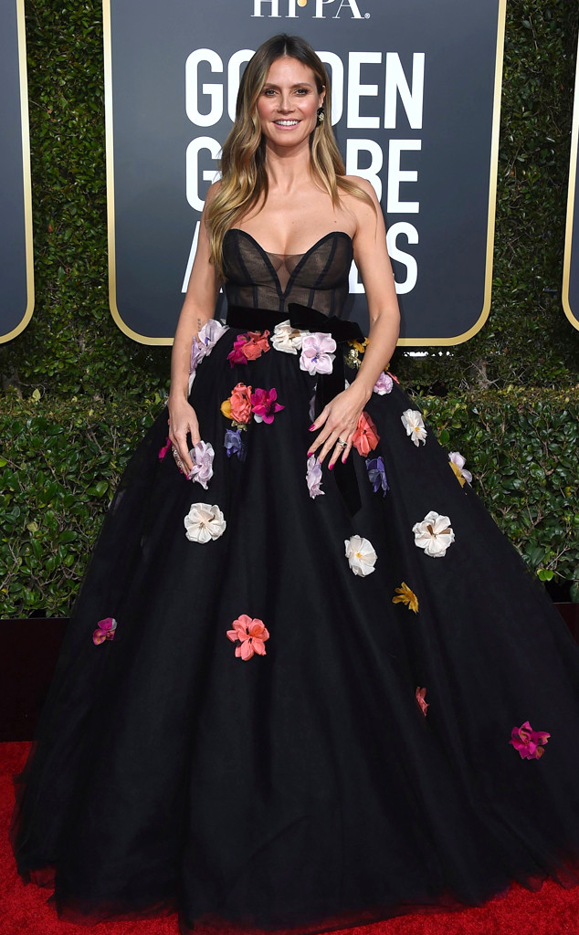 Heidi Klum, 2019 Golden Globes, Golden Globe Awards, Red Carpet Fashions